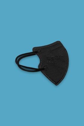 Jada FFP2 CE 0370 szelep nélküli 5 rétegű gyerekmaszk - Fekete - 10 db - 1 csomag