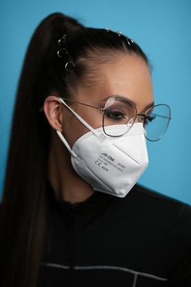 Jada FFP3 CE 0370 szelep nélküli fülpántos fehér maszk - 5 db - fehér