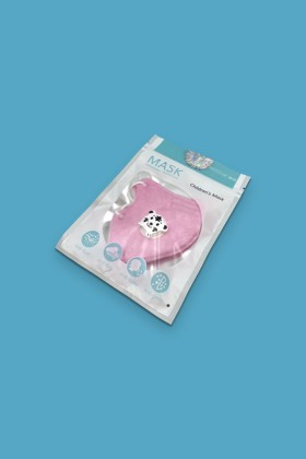 FFP2 (N95/KN95) 5 rétegű gyerekmaszk - FFP2 gyerekmaszk - 2 db - Pink - Szelepes