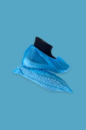 Csúszásgátlós cipővédő - 100 db - Kék