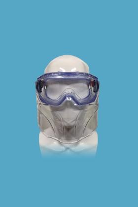 Singer EVAGUARD gumipántos, gázvédő szemüveg - Gázvédő szemüveg - Arcvédővel - 1 db - Víztiszta