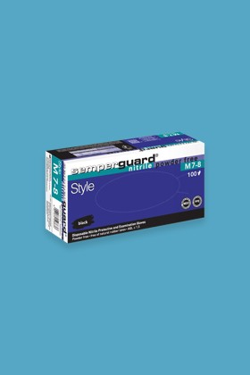 Semperguard prémium minőségű CE 2777 nitril kesztyű - 100 db - Fekete