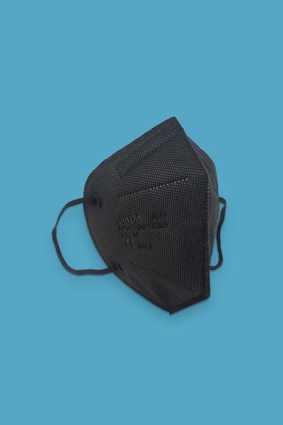 Jiada FFP2 CE 0370 - FFP2 maszk - 10 db - Fekete - Szelep nélküli