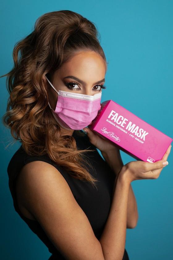 Legal Beauty 4 rétegű egészségügyi arcmaszk - 4 rétegű arcmaszk - 50 db - Rózsaszín - Felnőtt