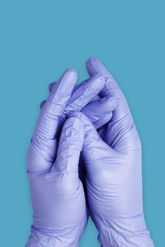 Sempercare prémium minőségű CE 2777 nitril kesztyű - Nitril kesztyű - Kék - L