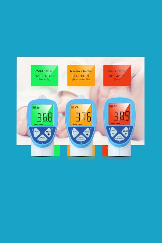 Elysium érintésmentes infravörös lázmérő - Lázmérő - 1 db - Fehér