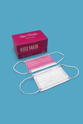 Legal Beauty 4 rétegű egészségügyi arcmaszk - 4 rétegű arcmaszk - 50 db - Rózsaszín - Gyermek