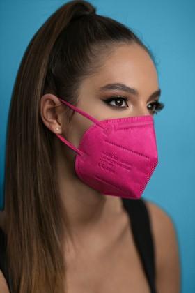 Jiada FFP2 CE 0370 szelep nélküli rózsaszín maszk - 10 db - rózsaszín