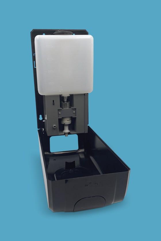Elysium Pro professzionális, érintésmentes, 1200 ml-es adagoló - Adagoló - Gél - Fekete állvánnyal - Fekete