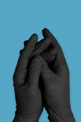 Semperguard prémium minőségű CE 2777 nitril kesztyű - Nitril kesztyű - Fekete - S