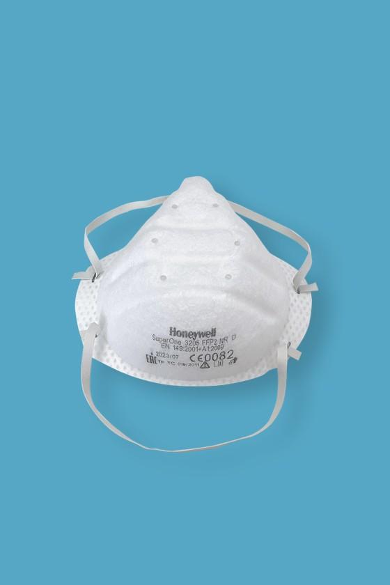 Honeywell Super One 3205 FFP2 szelep nélküli maszk - Arcmaszk - 30 darab - Fehér