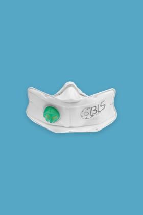 BLS 860 Olasz FFP3 R D többször használható szelepes maszk - 10 db - Fehér