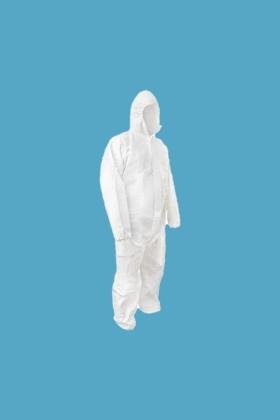 Egyszerhasználatos vízálló overál 3/4 60 gr - Fehér - XL