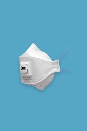 3M Aura 9322+ FFP2 légzésvédő maszk - szelepes - Arcmaszk - 5 db - Fehér