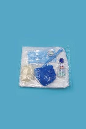Prémium Látogatói csomag - Arcmaszk, köpeny, hajháló, lábzsák, gumikesztyű, kézfertőtlenítő gél