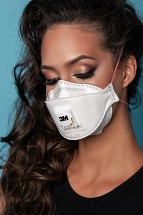 3M Aura 9332+ FFP3 légzésvédő maszk - szelepes - 5 db - Fehér