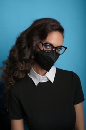 Legal Beauty FFP3 7-rétegű maszk (CE 0370) - Fekete - Szelep nélküli - 5 db