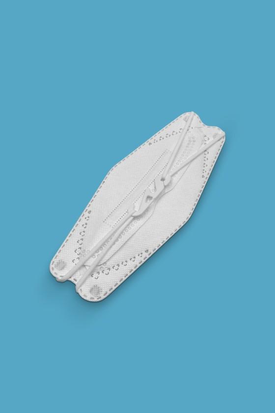 DOC FFP2 CE 0598 ergonomikus maszk - FFP2 maszk - 10 db - Fehér - Szelep nélküli
