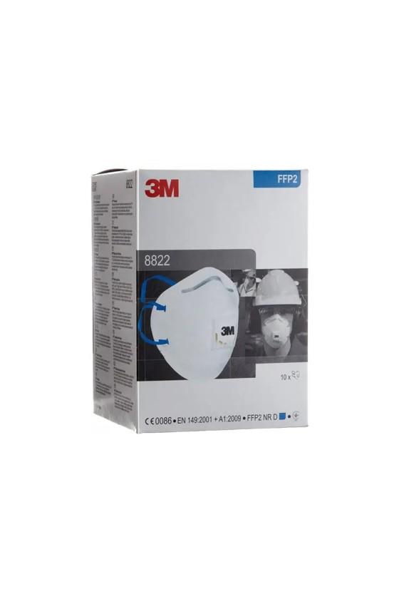 3M 8822 -  FFP2 légzésvédő maszk - szelepes - Arcmaszk - 10 db - Fehér