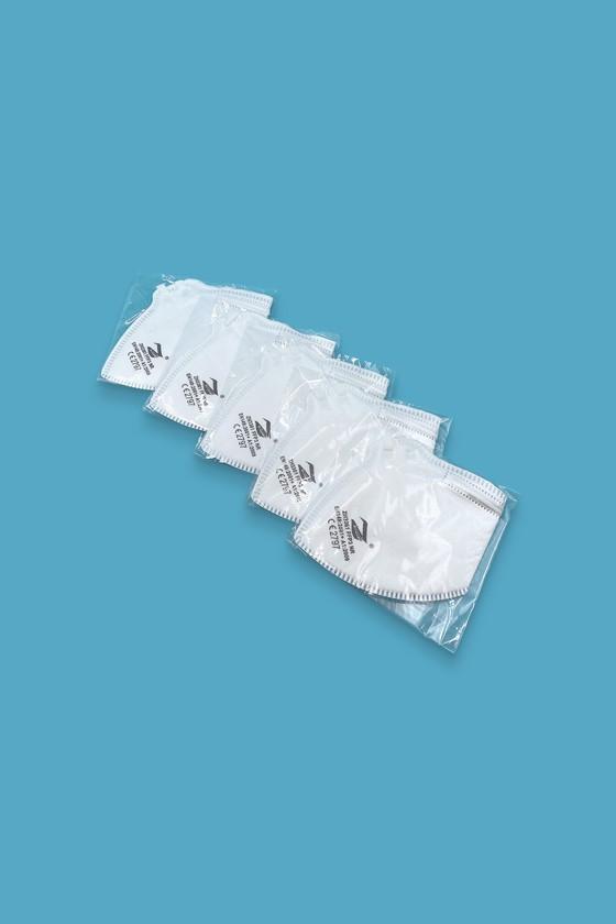 Zmask prémium FFP3 - FFP3 maszk - 5 db - Fehér - Szelep nélküli