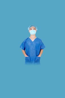 Kék színű zsilipruha 40 gramm - XXL