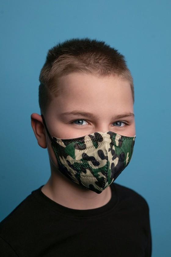 FFP2 szelep nélküli 5 rétegű arcmaszk - 5 rétegű arcmaszk - Katonai - Gyermek